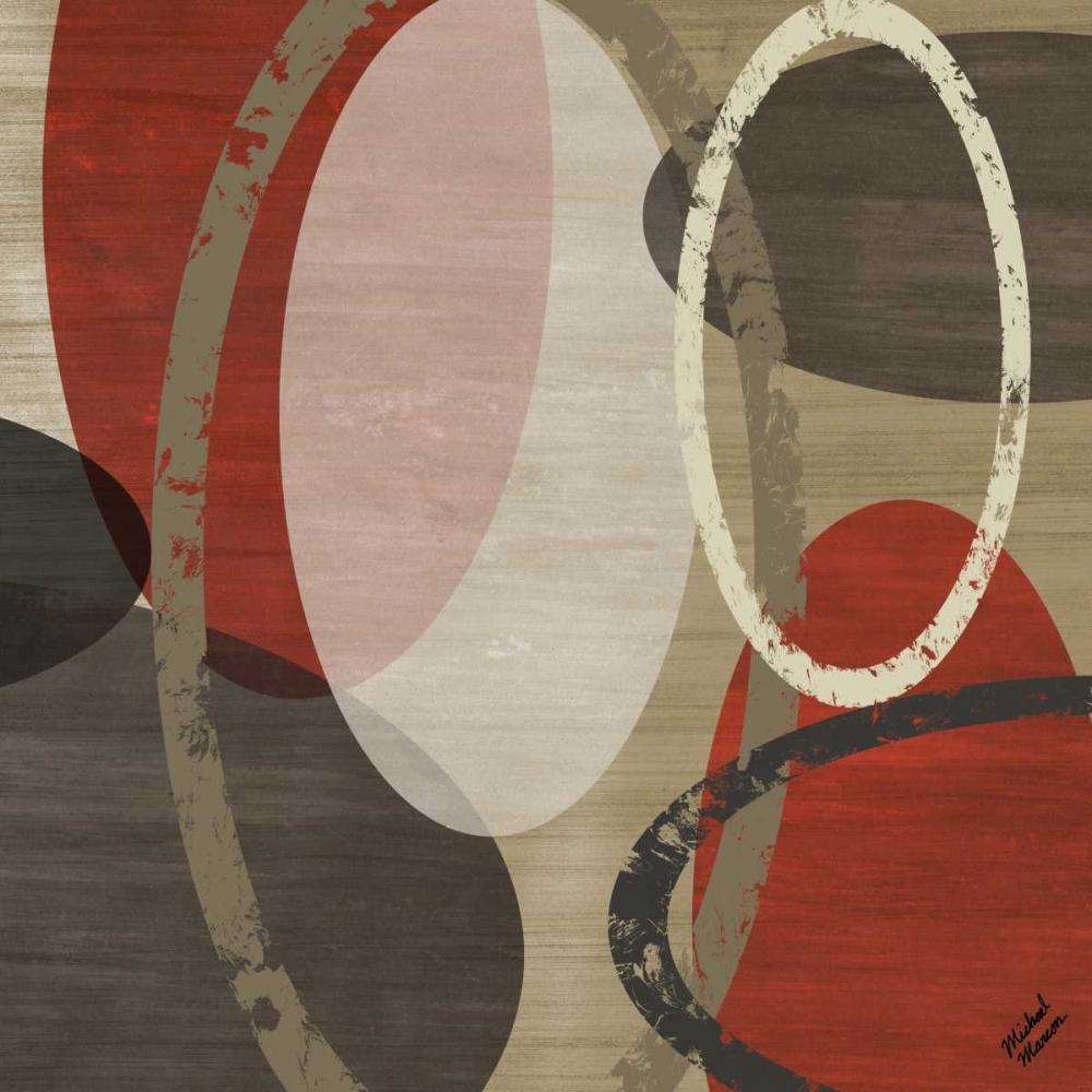 konfigurieren des Kunstdrucks in Wunschgröße Elastic Red I von Marcon, Michael