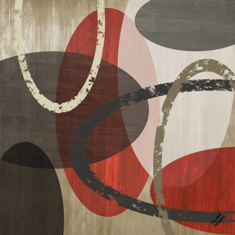 konfigurieren des Kunstdrucks in Wunschgröße Elastic Red II von Marcon, Michael
