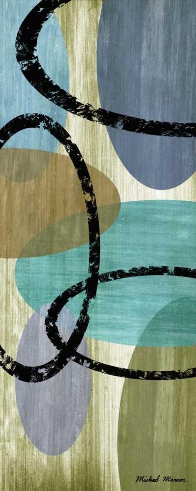 konfigurieren des Kunstdrucks in Wunschgröße Elastic Blue II von Marcon, Michael