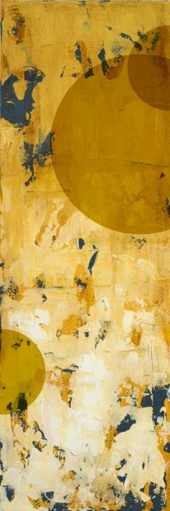 konfigurieren des Kunstdrucks in Wunschgröße Pathside Perennials with circles von Loreth, Lanie
