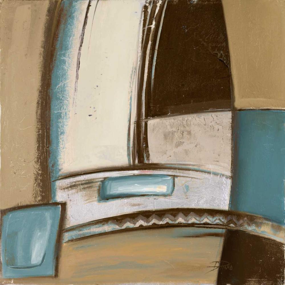 konfigurieren des Kunstdrucks in Wunschgröße Time Flies on Blue I von Pinto, Patricia