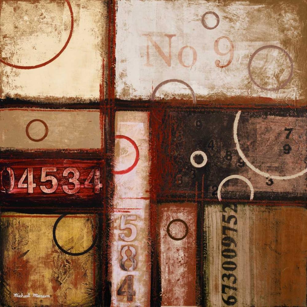 konfigurieren des Kunstdrucks in Wunschgröße Digits in the Abstract II von Marcon, Michael