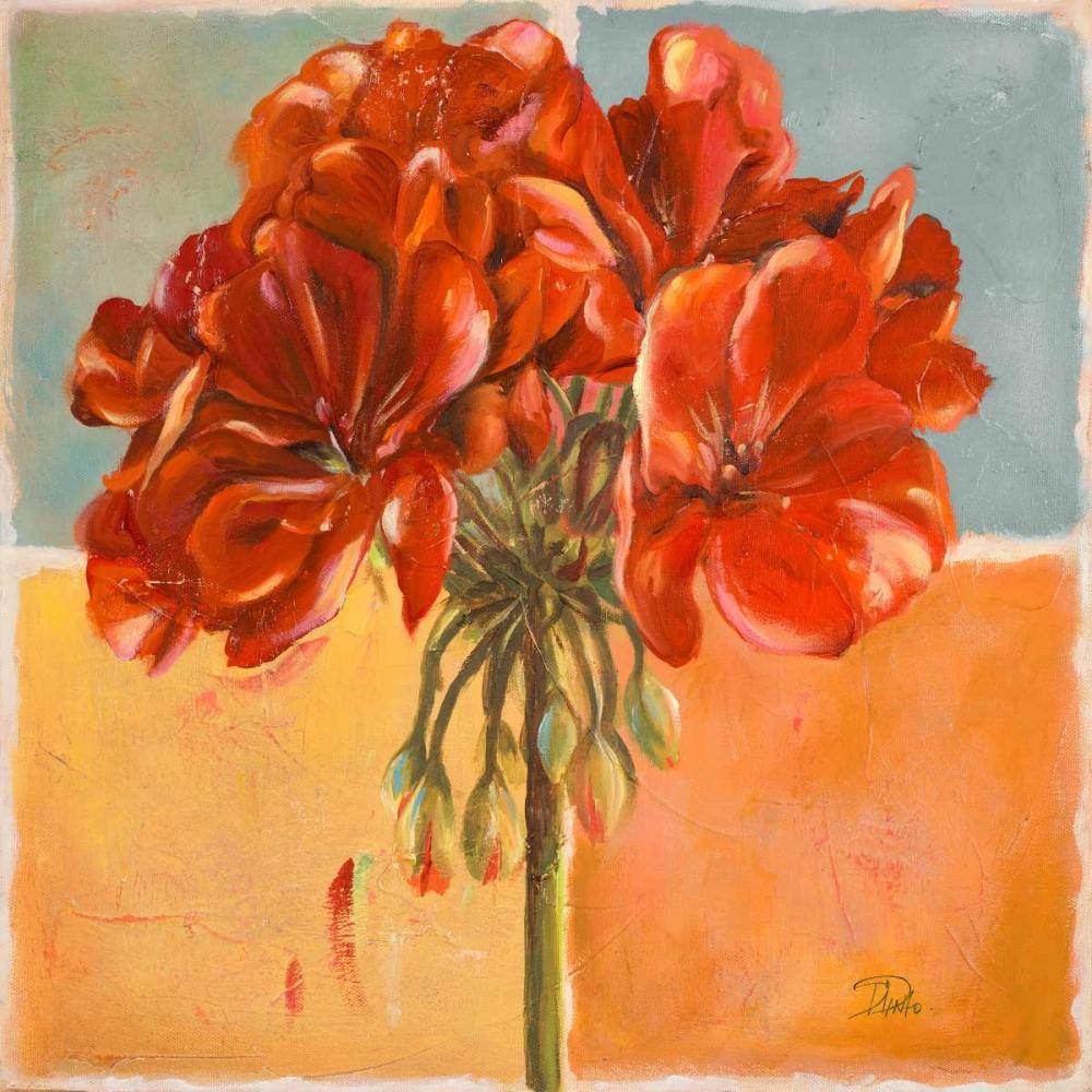 konfigurieren des Kunstdrucks in Wunschgröße Red Geraniums I von Pinto, Patricia