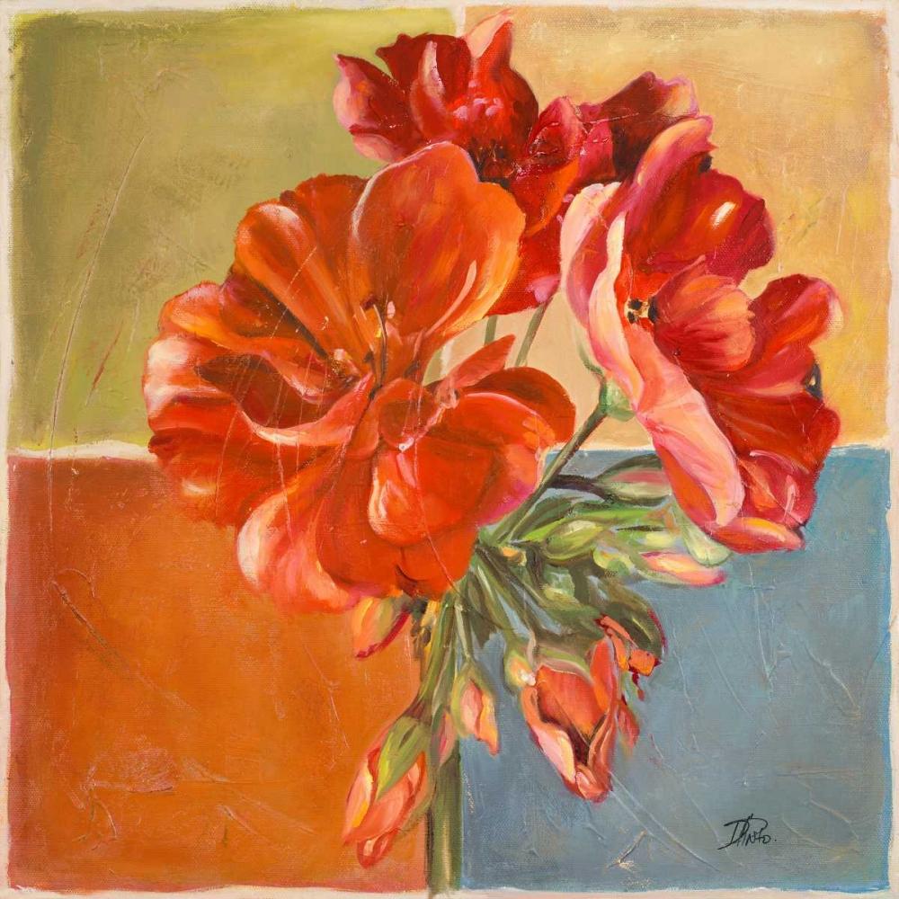 konfigurieren des Kunstdrucks in Wunschgröße Red Geraniums II von Pinto, Patricia