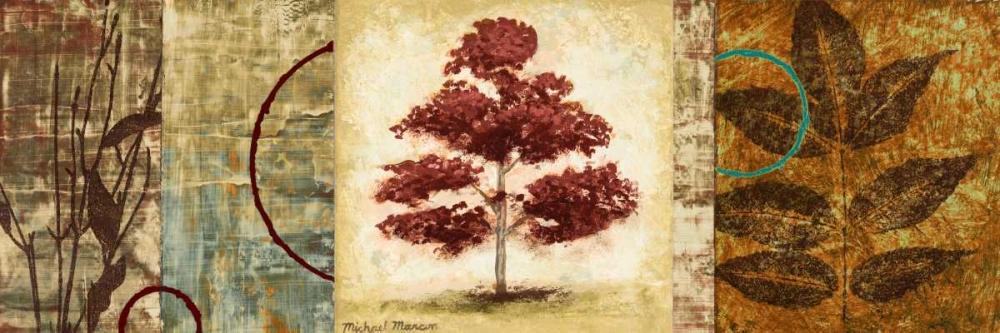 konfigurieren des Kunstdrucks in Wunschgröße Red Tree Panel II von Marcon, Michael