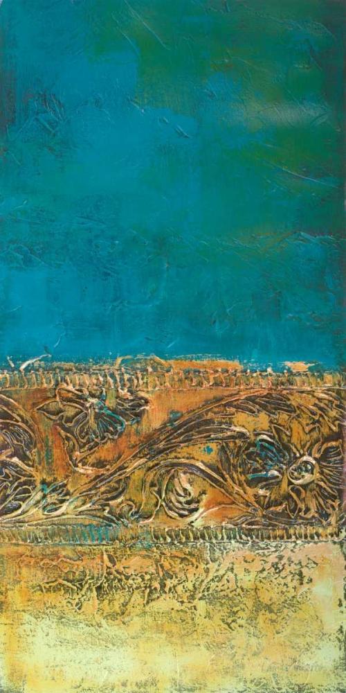 konfigurieren des Kunstdrucks in Wunschgröße Rustic Frieze on Teal I von Loreth, Lanie