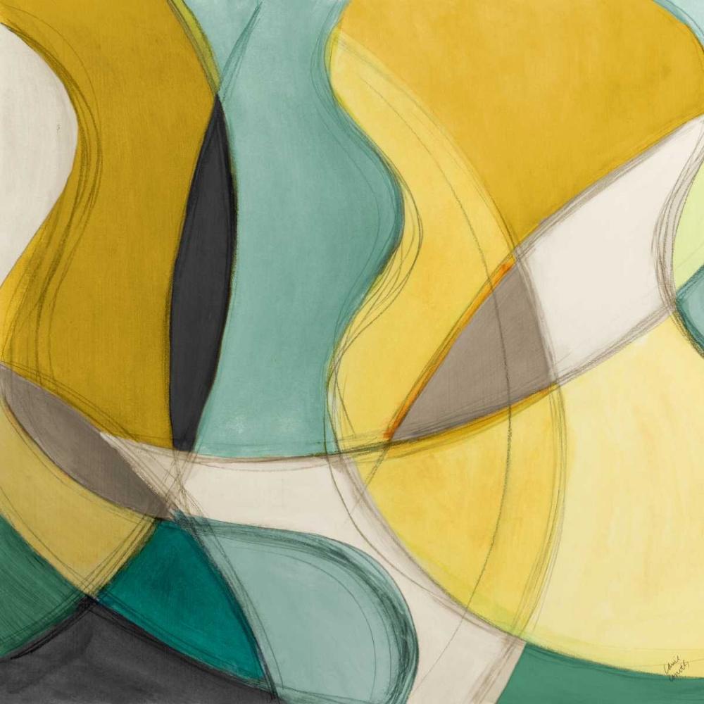 konfigurieren des Kunstdrucks in Wunschgröße Curving Color Square I von Loreth, Lanie