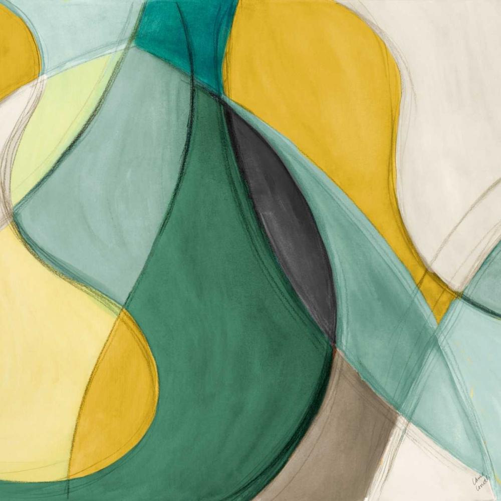 konfigurieren des Kunstdrucks in Wunschgröße Curving Color Square II von Loreth, Lanie