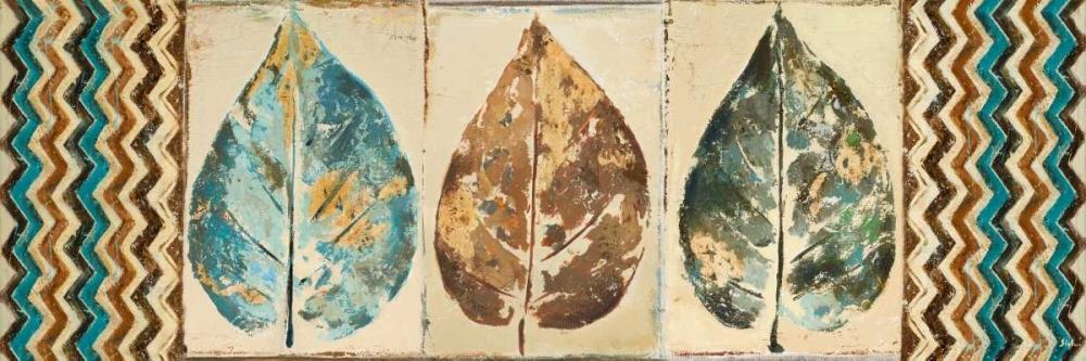 konfigurieren des Kunstdrucks in Wunschgröße Chevron Leaves Panel I von Pinto, Patricia