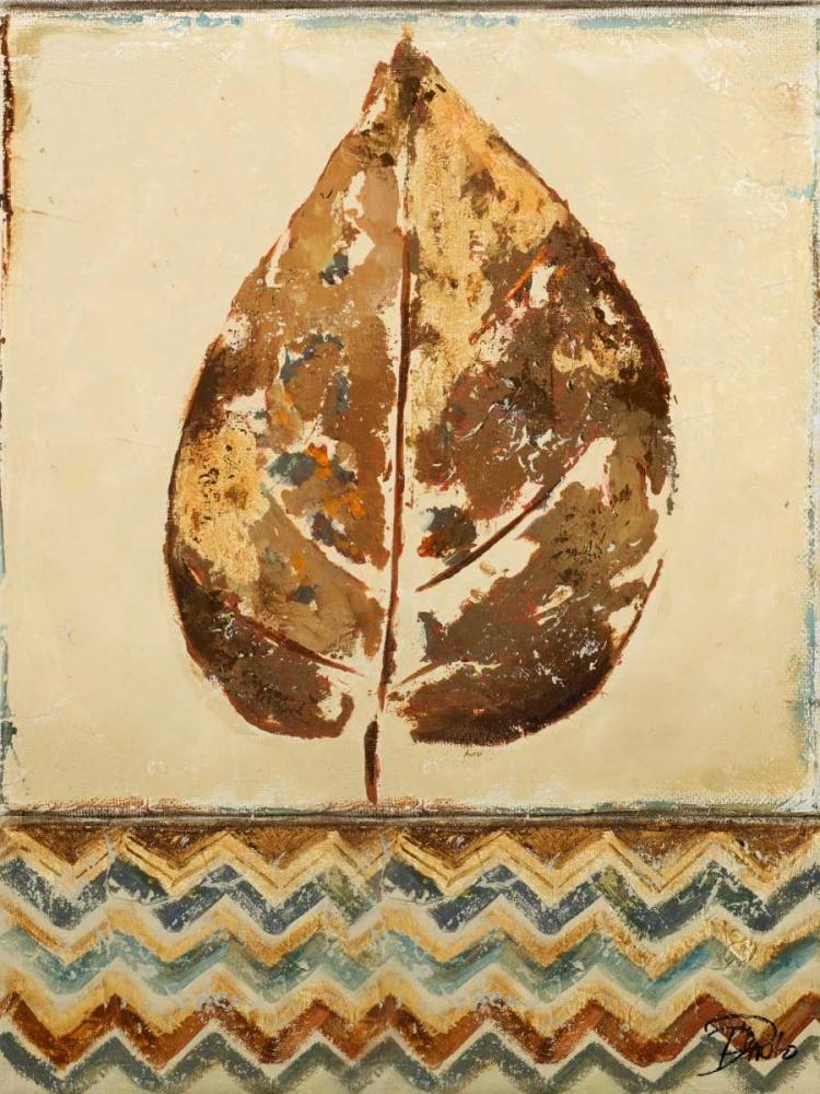 konfigurieren des Kunstdrucks in Wunschgröße Chevron Leaf I von Pinto, Patricia