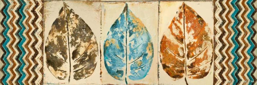 konfigurieren des Kunstdrucks in Wunschgröße Chevron Leaves Panel II von Pinto, Patricia