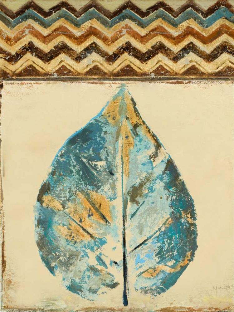 konfigurieren des Kunstdrucks in Wunschgröße Chevron Leaf II von Pinto, Patricia