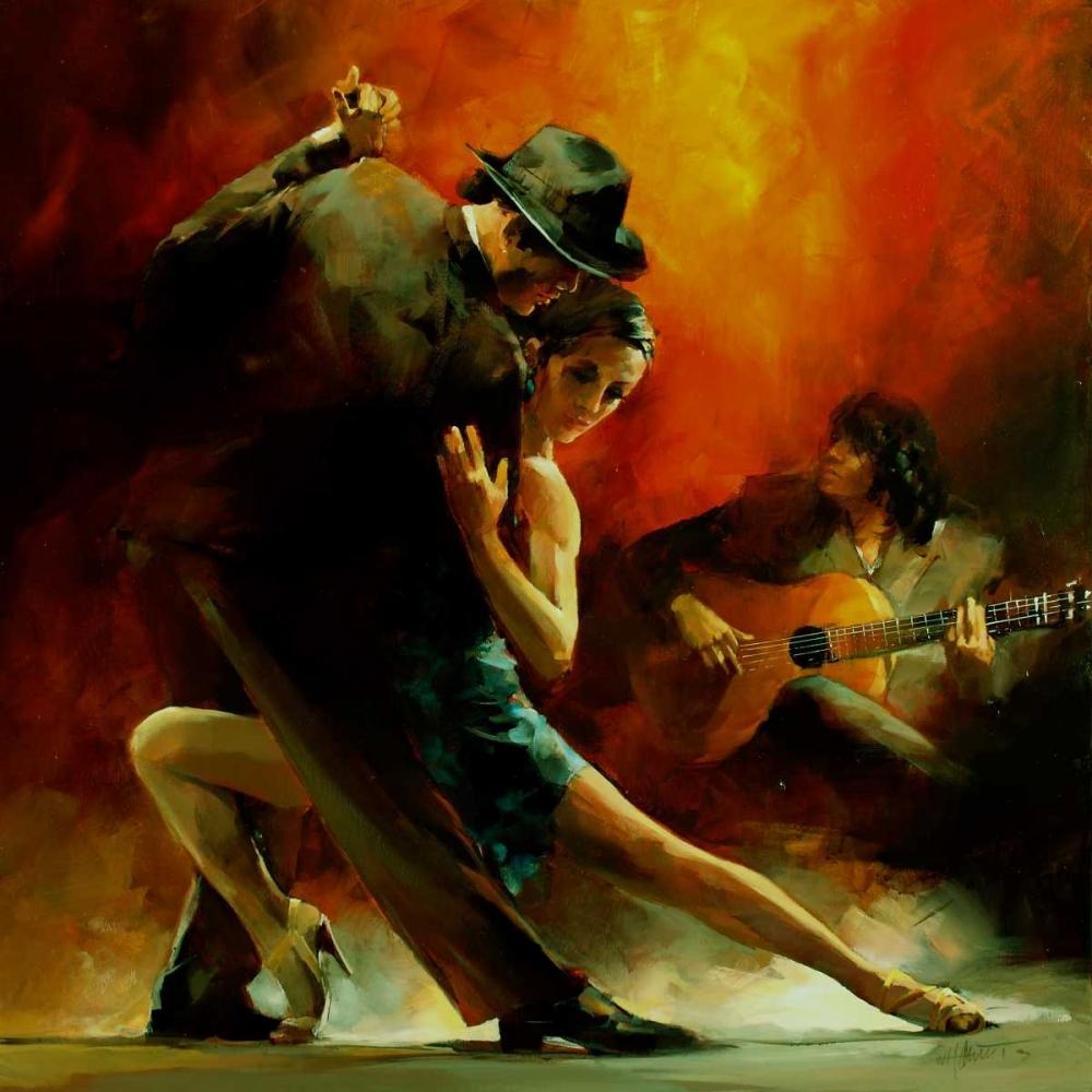 Tango Argentino III von Haenraets, Willem <br> max. 48 x 48cm <br> Preis: ab 10€