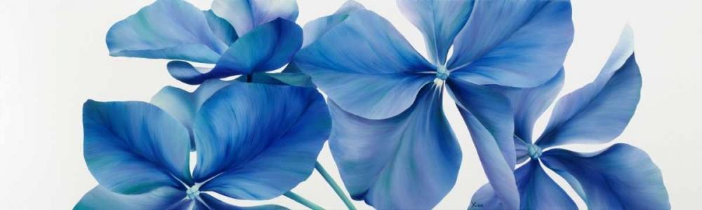 konfigurieren des Kunstdrucks in Wunschgröße Shiny Bleu von Poelstra-Holzhaus, Yvonne
