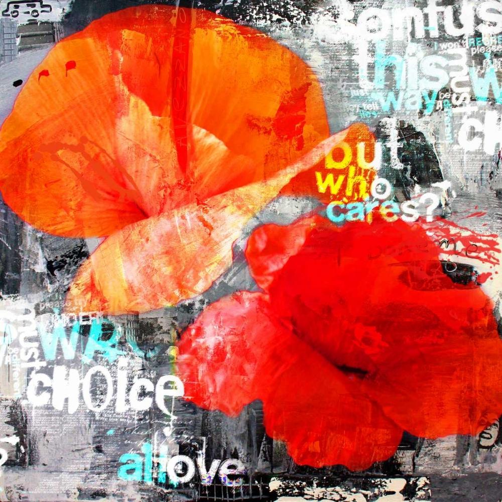 konfigurieren des Kunstdrucks in Wunschgröße Poppy Story I von Baker, Micha