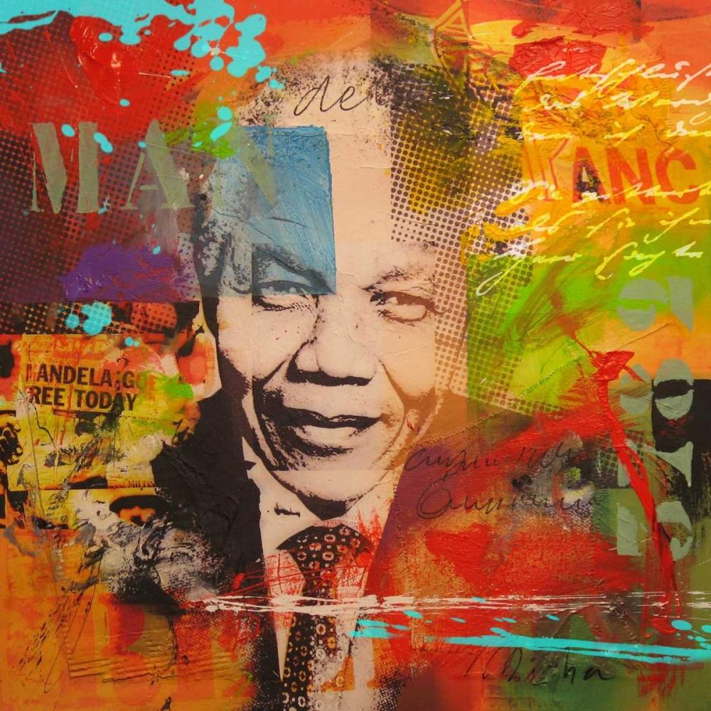 konfigurieren des Kunstdrucks in Wunschgröße Mandela von Baker, Micha