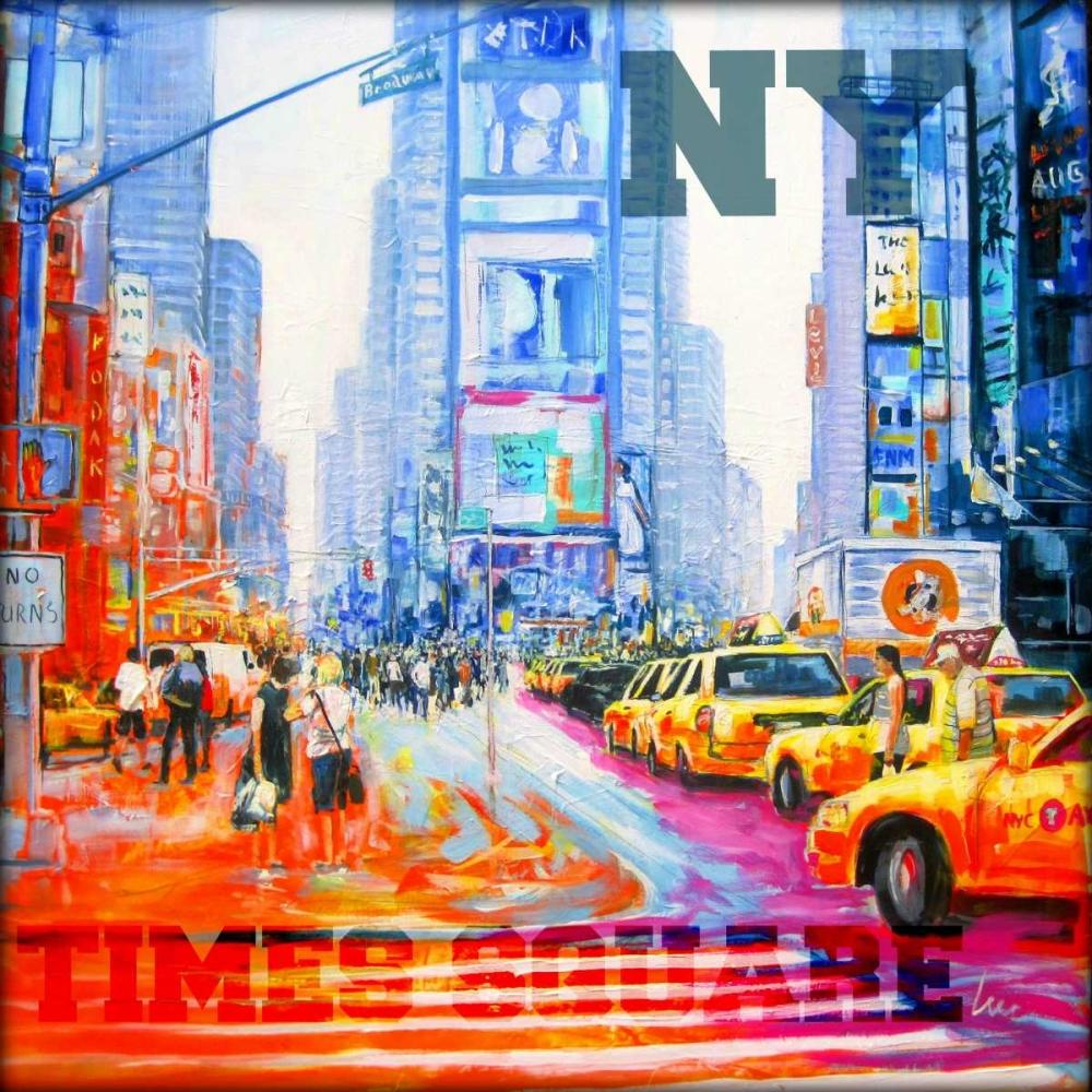 konfigurieren des Kunstdrucks in Wunschgröße NY  Times Square von Luc