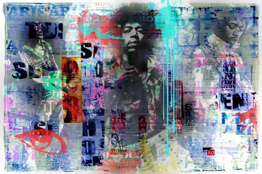 konfigurieren des Kunstdrucks in Wunschgröße Jimmy Hendrix von Baker, Micha