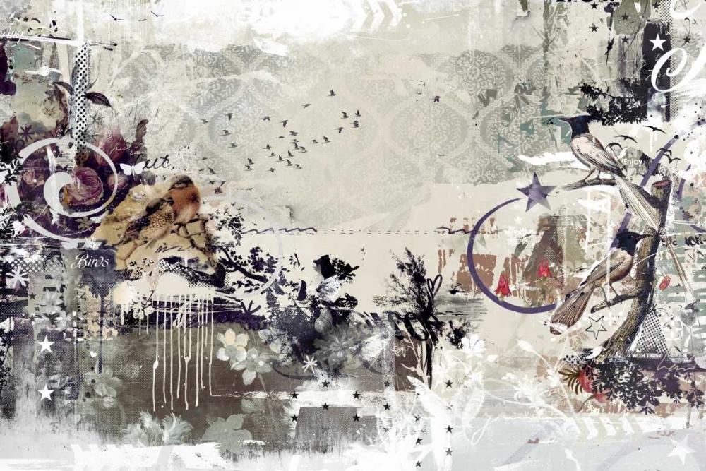 konfigurieren des Kunstdrucks in Wunschgröße Tweeting birds von Albers, Teis