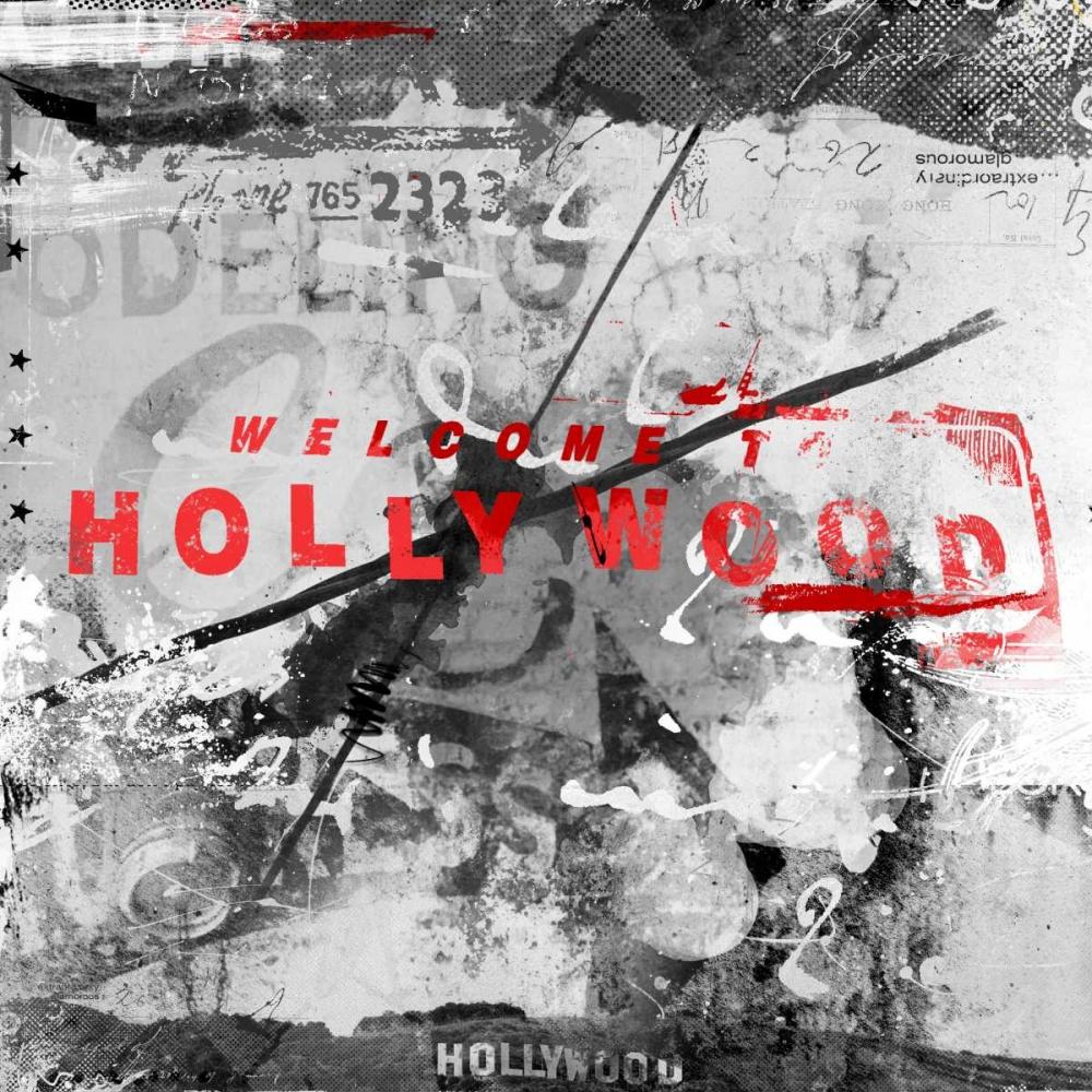 konfigurieren des Kunstdrucks in Wunschgröße Welcome Hollywood von Albers, Teis