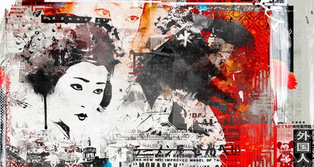 konfigurieren des Kunstdrucks in Wunschgröße Monarc Geisha von Albers, Teis