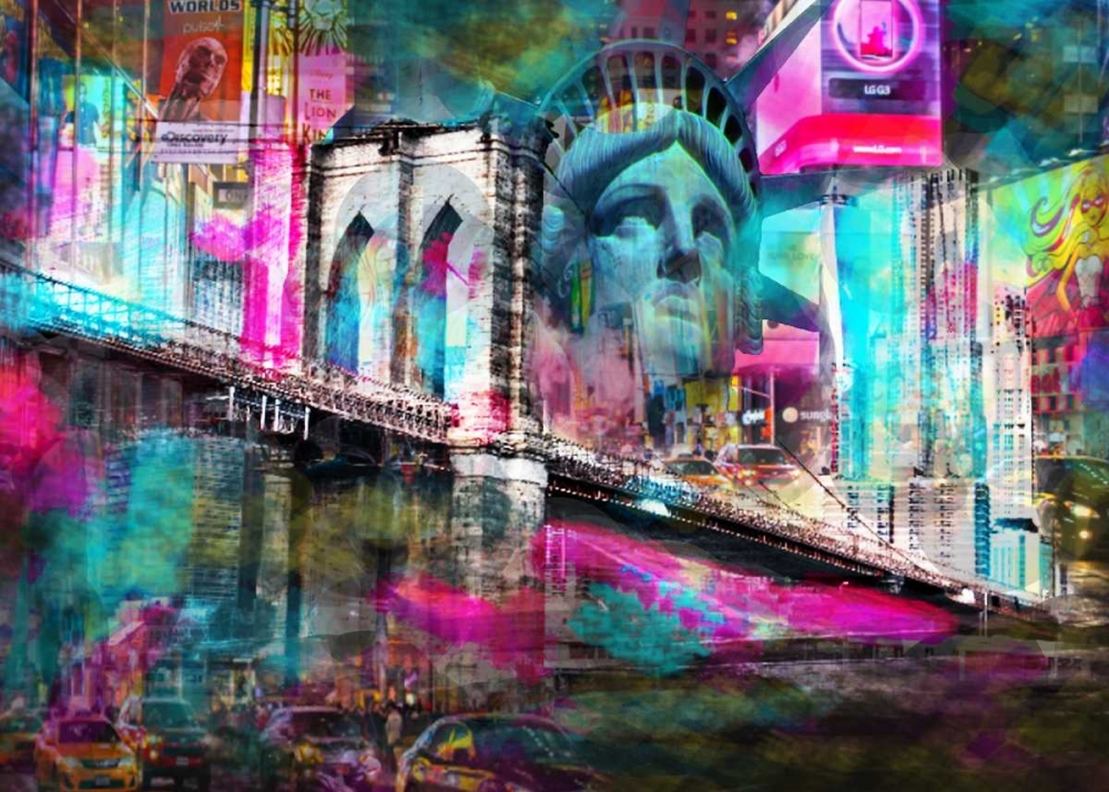 konfigurieren des Kunstdrucks in Wunschgröße NY liberty von de Haas, Mascha