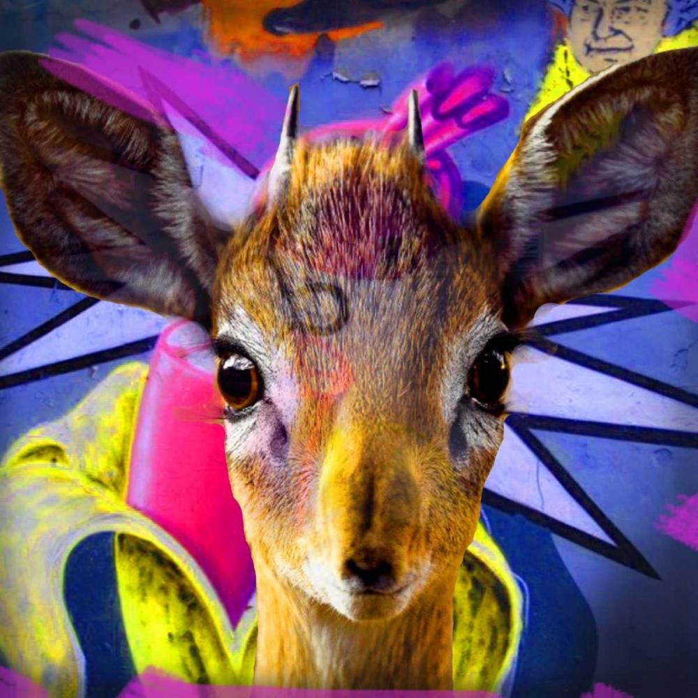 konfigurieren des Kunstdrucks in Wunschgröße Bambi von de Haas, Mascha