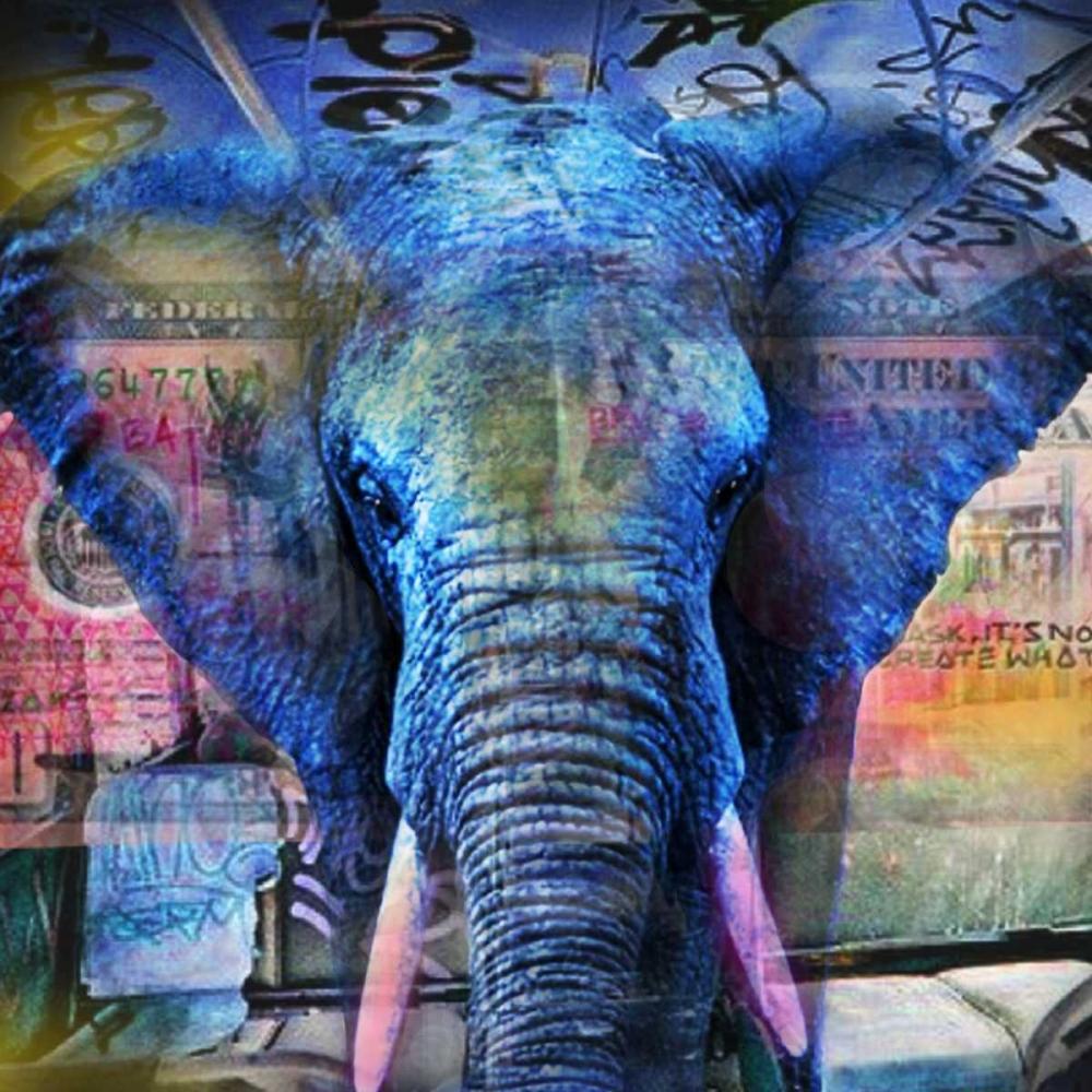 Elefantastic von de Haas, Mascha <br> max. 152 x 152cm <br> Preis: ab 10€