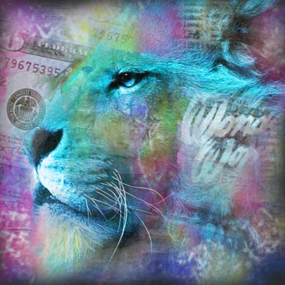 Lion II von de Haas, Mascha <br> max. 152 x 152cm <br> Preis: ab 10€