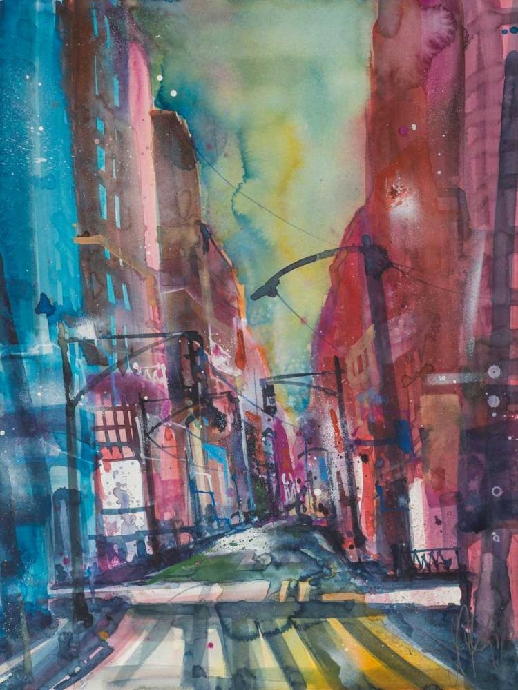 konfigurieren des Kunstdrucks in Wunschgröße New York Aquarel I von Mattern, Andreas