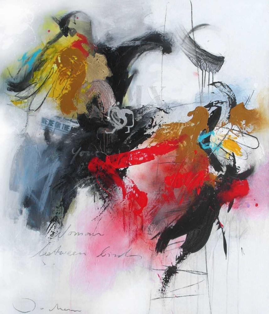 konfigurieren des Kunstdrucks in Wunschgröße Woman between some birds von Bakker, Jochem