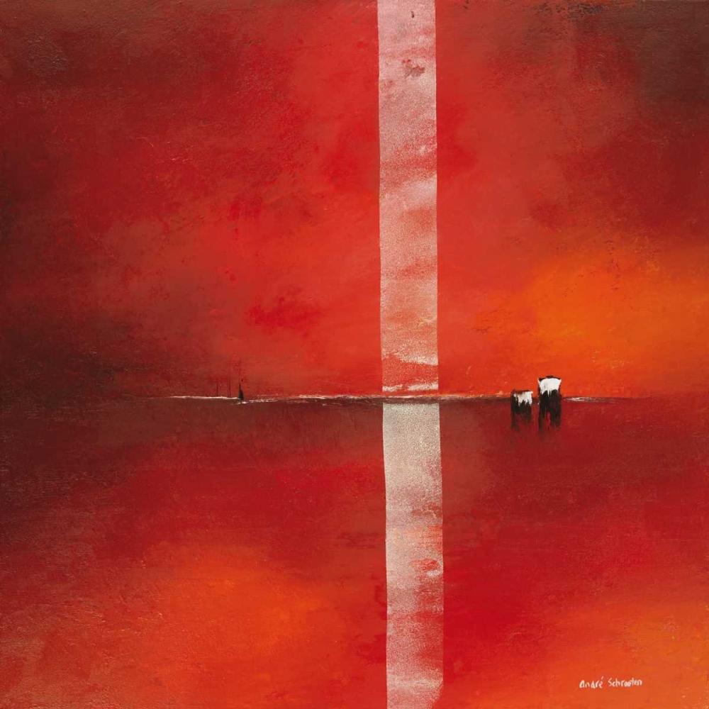 konfigurieren des Kunstdrucks in Wunschgröße Deep red I von Schrooten, Andre