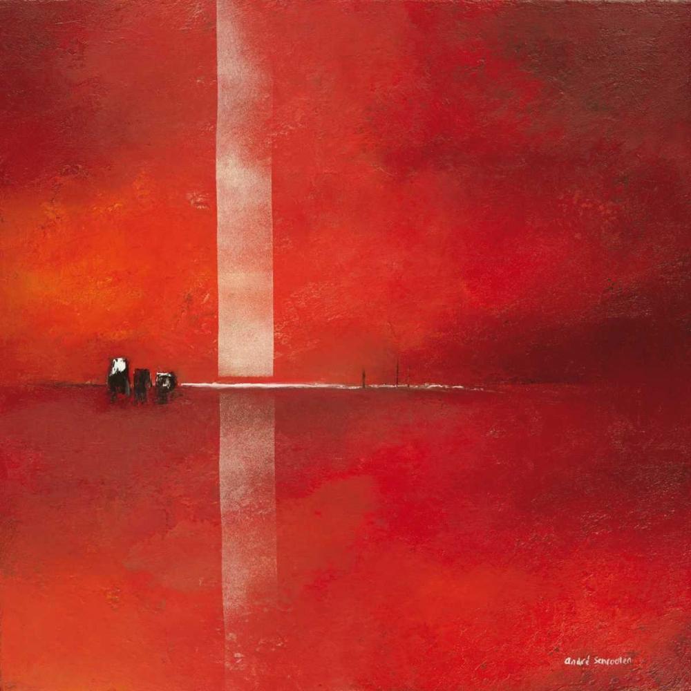 konfigurieren des Kunstdrucks in Wunschgröße Deep red II von Schrooten, Andre