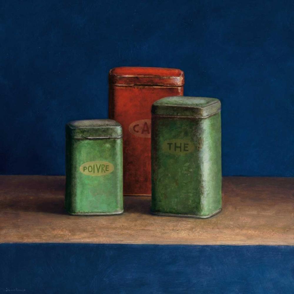 Tin boxes I von van Riswick, Jos <br> max. 99 x 99cm <br> Preis: ab 10€