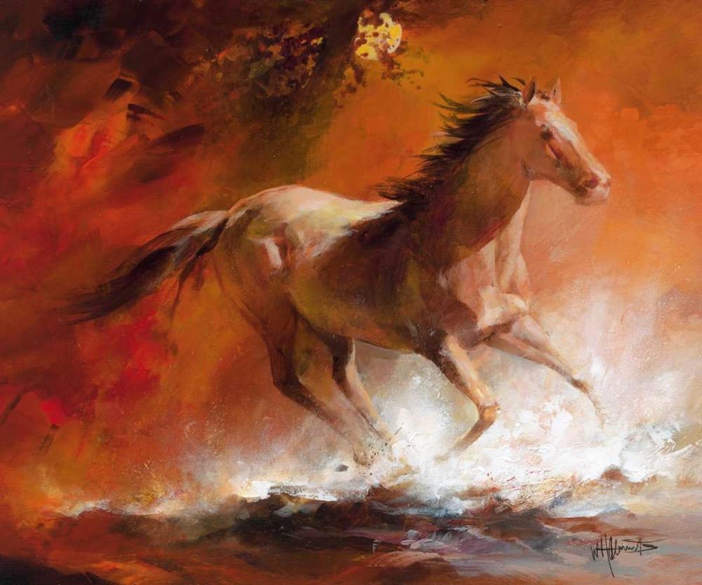 konfigurieren des Kunstdrucks in Wunschgröße Wild Horses I von Haenraets, Willem
