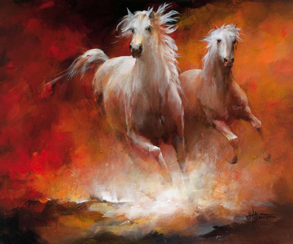 konfigurieren des Kunstdrucks in Wunschgröße Wild Horses II von Haenraets, Willem