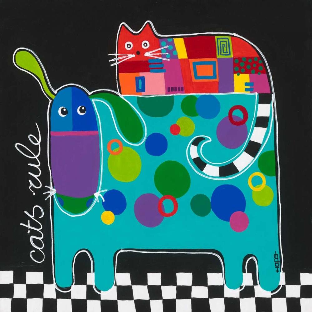 Cats rule von Hope, Yvonne <br> max. 135 x 135cm <br> Preis: ab 10€