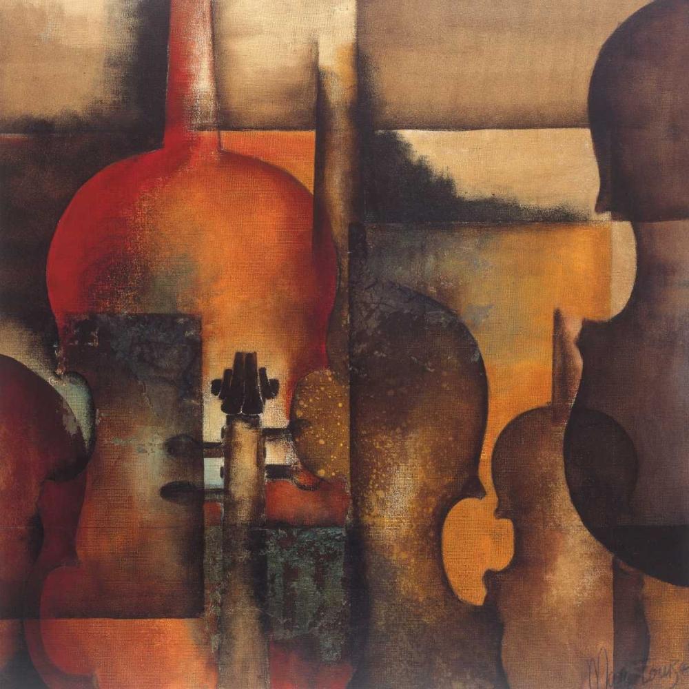 konfigurieren des Kunstdrucks in Wunschgröße Ode to Music I von Oudkerk, Marie-Louise