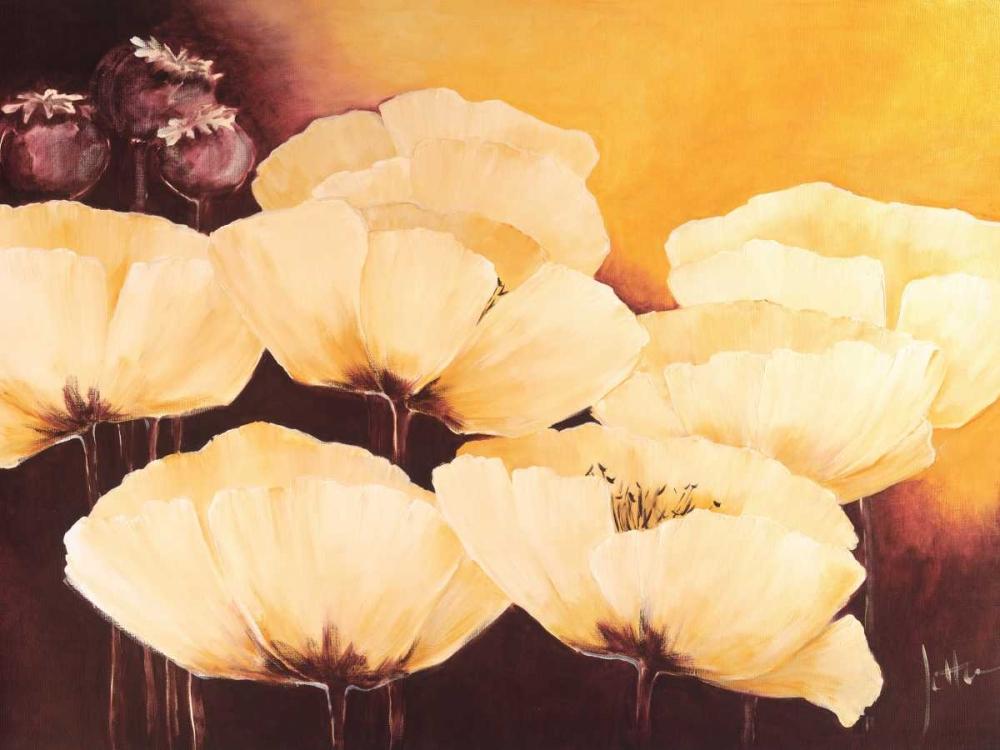 konfigurieren des Kunstdrucks in Wunschgröße Yellow Poppies I von Roseboom, Jettie