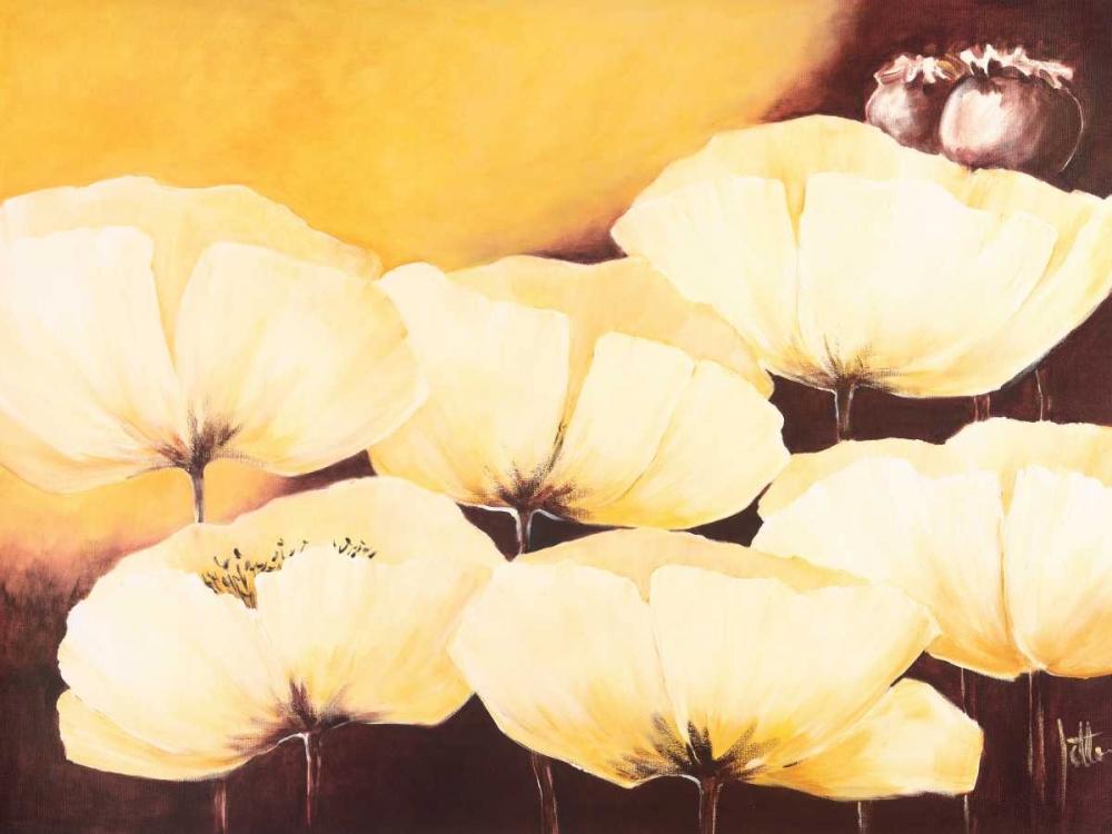 konfigurieren des Kunstdrucks in Wunschgröße Yellow Poppies II von Roseboom, Jettie