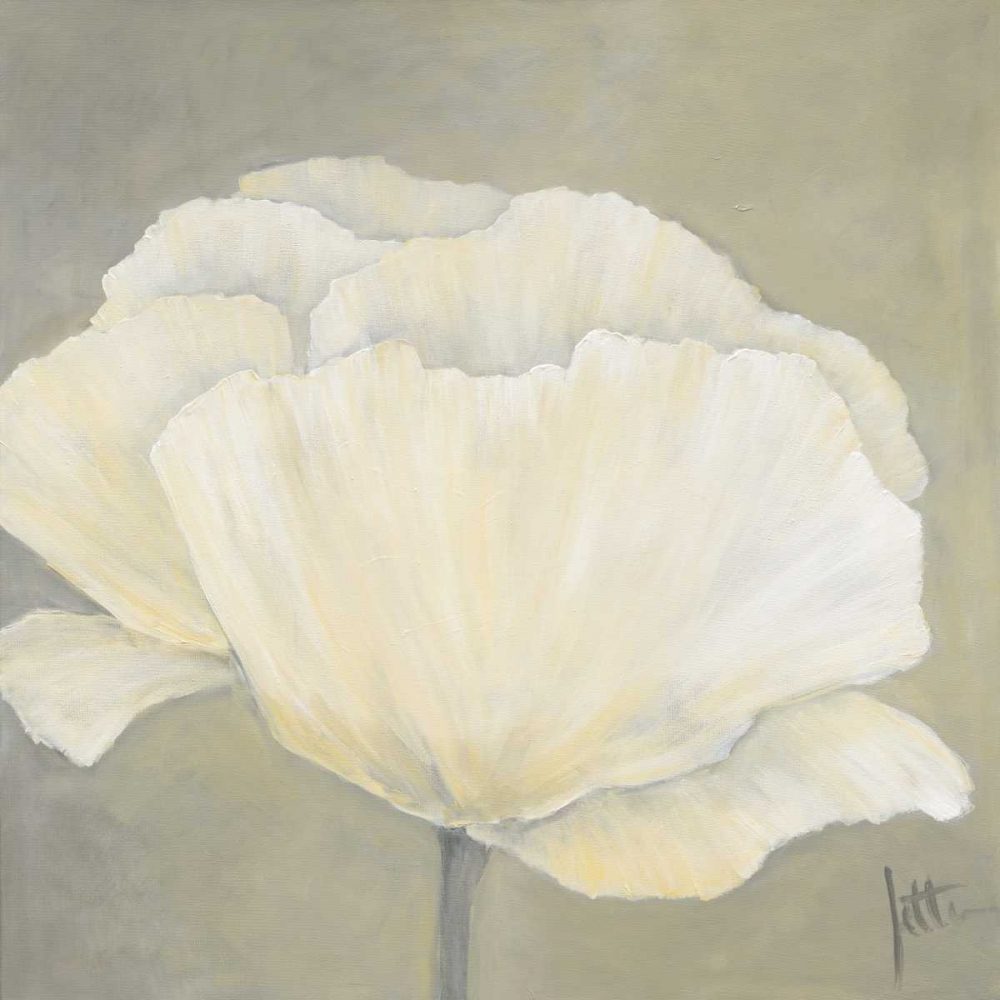 konfigurieren des Kunstdrucks in Wunschgröße Poppy in white I von Roseboom, Jettie