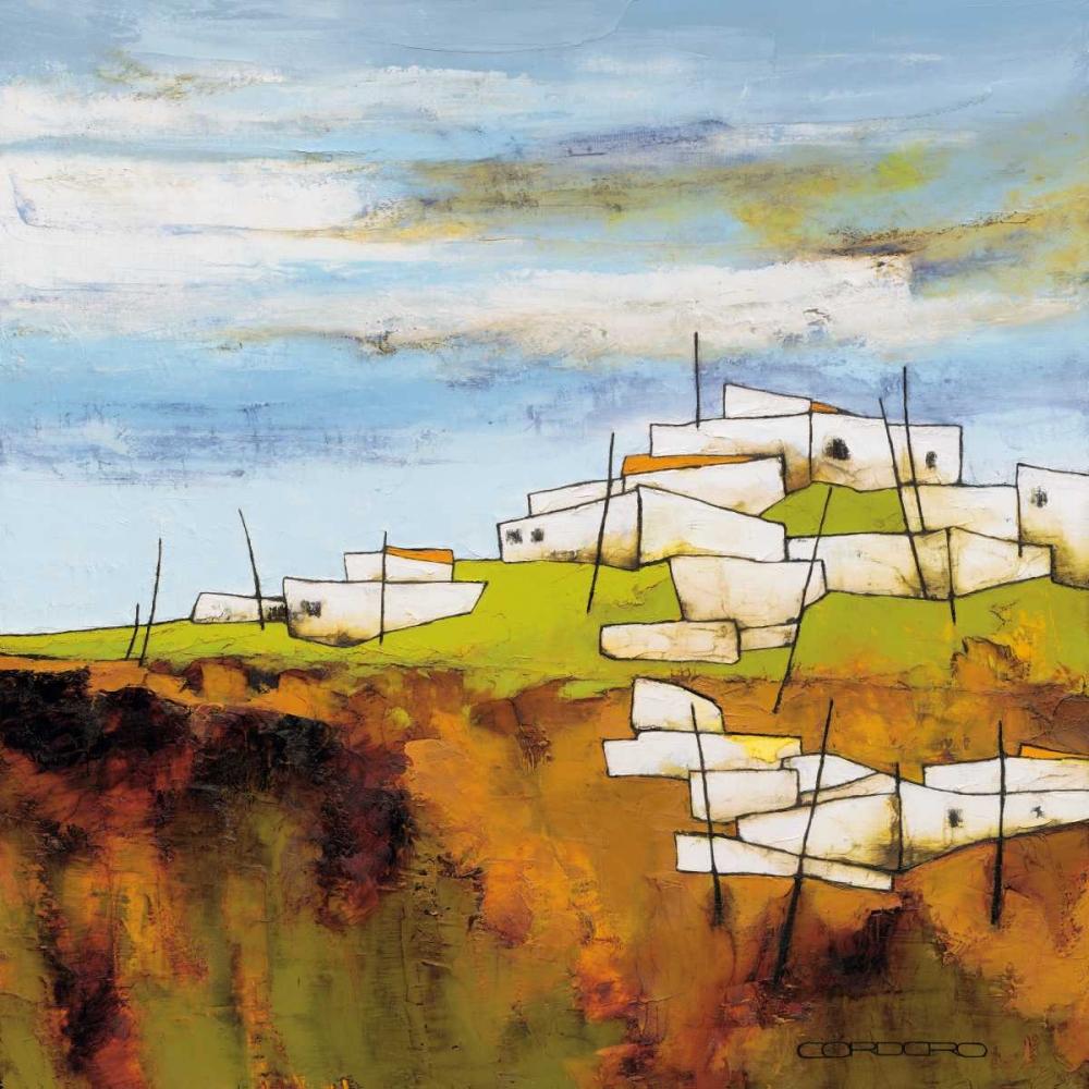 konfigurieren des Kunstdrucks in Wunschgröße Peaceful village I von Cordaro, Emiliano