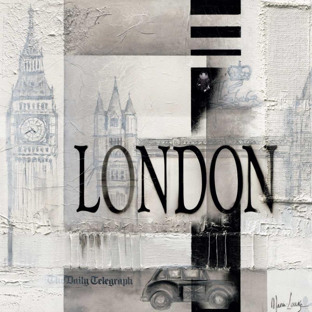 konfigurieren des Kunstdrucks in Wunschgröße London von Oudkerk, Marie-Louise