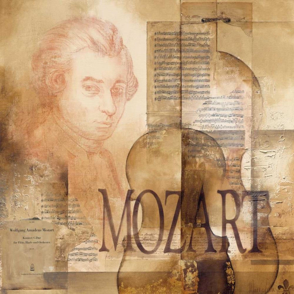 konfigurieren des Kunstdrucks in Wunschgröße A tribute to Mozart von Oudkerk, Marie-Louise