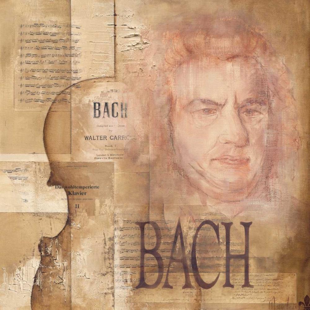 konfigurieren des Kunstdrucks in Wunschgröße A tribute to Bach von Oudkerk, Marie-Louise
