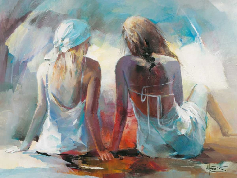 Two Girl friends I von Haenraets, Willem <br> max. 155 x 117cm <br> Preis: ab 10€