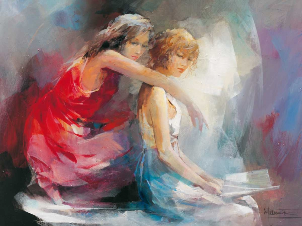 Two Girl friends II von Haenraets, Willem <br> max. 155 x 117cm <br> Preis: ab 10€