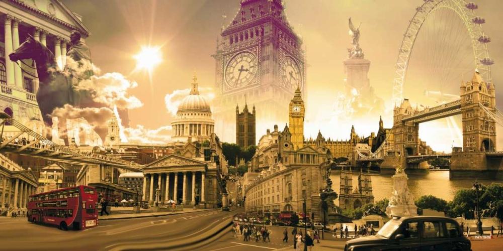 konfigurieren des Kunstdrucks in Wunschgröße London Highlights von Einzelbilder