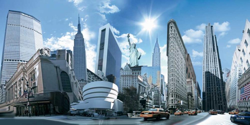 konfigurieren des Kunstdrucks in Wunschgröße NY Highlights von Einzelbilder
