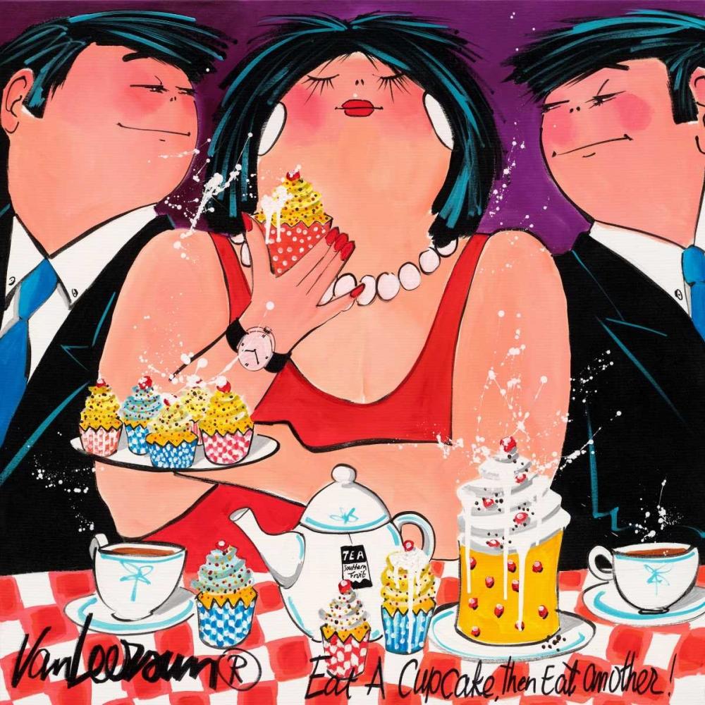 konfigurieren des Kunstdrucks in Wunschgröße Eat a cupcake von van Leersum, El